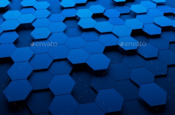 GraphicRiver Abstract 3D Rendering Of Surface With Hexagons 11426391