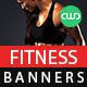 Health & Fitness Web Banners - GraphicRiver Item for Sale
