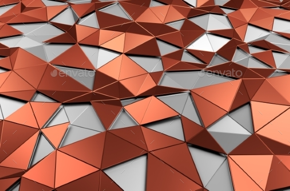 GraphicRiver Abstract 3D Rendering Of Low Poly Surface 11426401