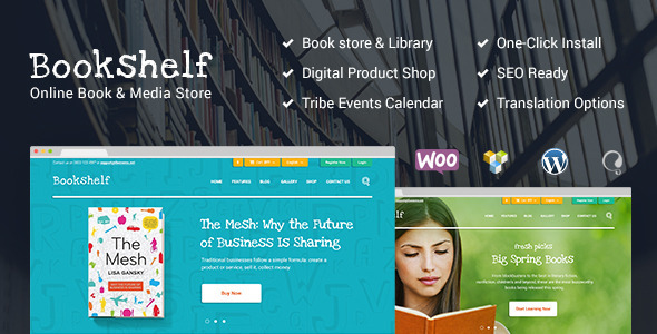ThemeForest BookShelf Books & Media Online Store 11426523
