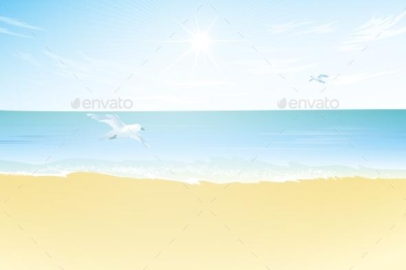 GraphicRiver Seascape Vector Illustration Paradise Beach 11426568