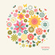 Vintage Greeting Card with Decorative Flowers.  - GraphicRiver Item for Sale