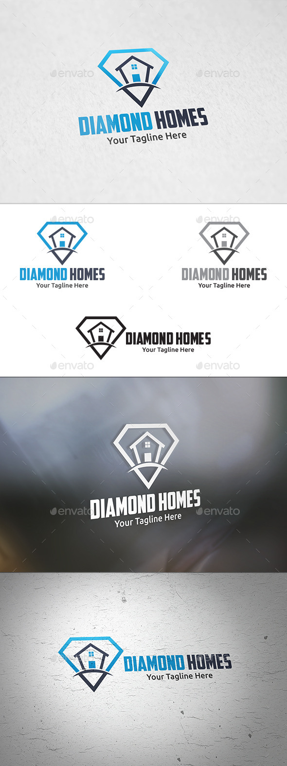 GraphicRiver Diamond Homes Logo Template 11426717