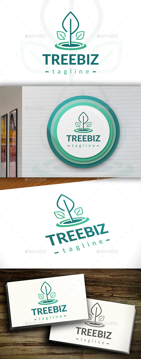 GraphicRiver Simple Tree Logo 11426874