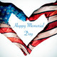 hands forming a heart patterned and text happy memorial day - PhotoDune Item for Sale