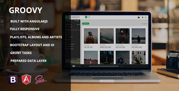 ThemeForest Groovy AngularJs Music App Template 11426974