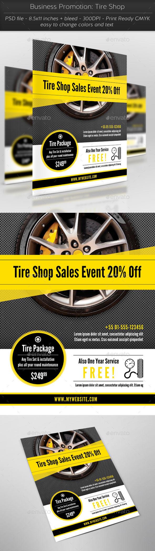 GraphicRiver Business Promotion Tire Shop 11427039
