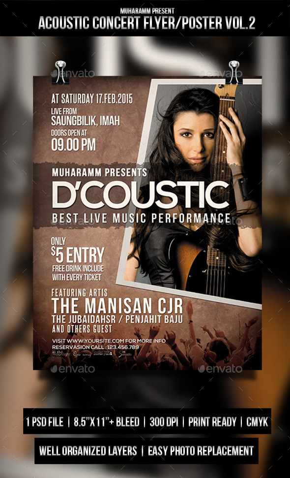 GraphicRiver Acoustic Concert Flyer Poster Vol.2 11337963