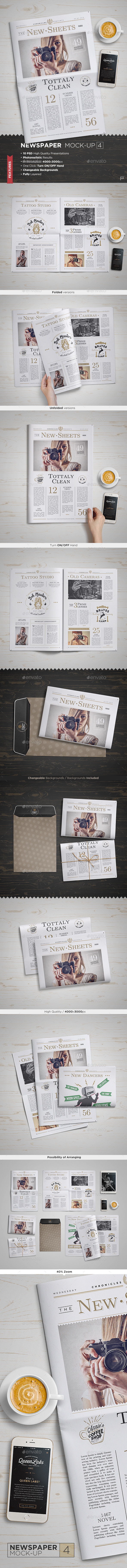 GraphicRiver Newspaper Mock-Up 4 11427146