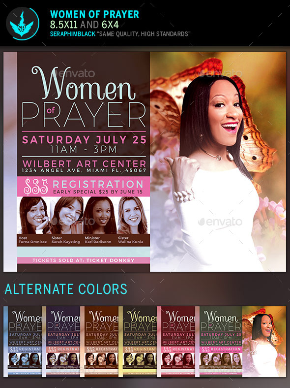 GraphicRiver Women of Prayer Church Flyer Template 11427241