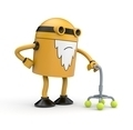 Old robot with a crutch - PhotoDune Item for Sale