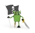 Robot with pirate flag - PhotoDune Item for Sale
