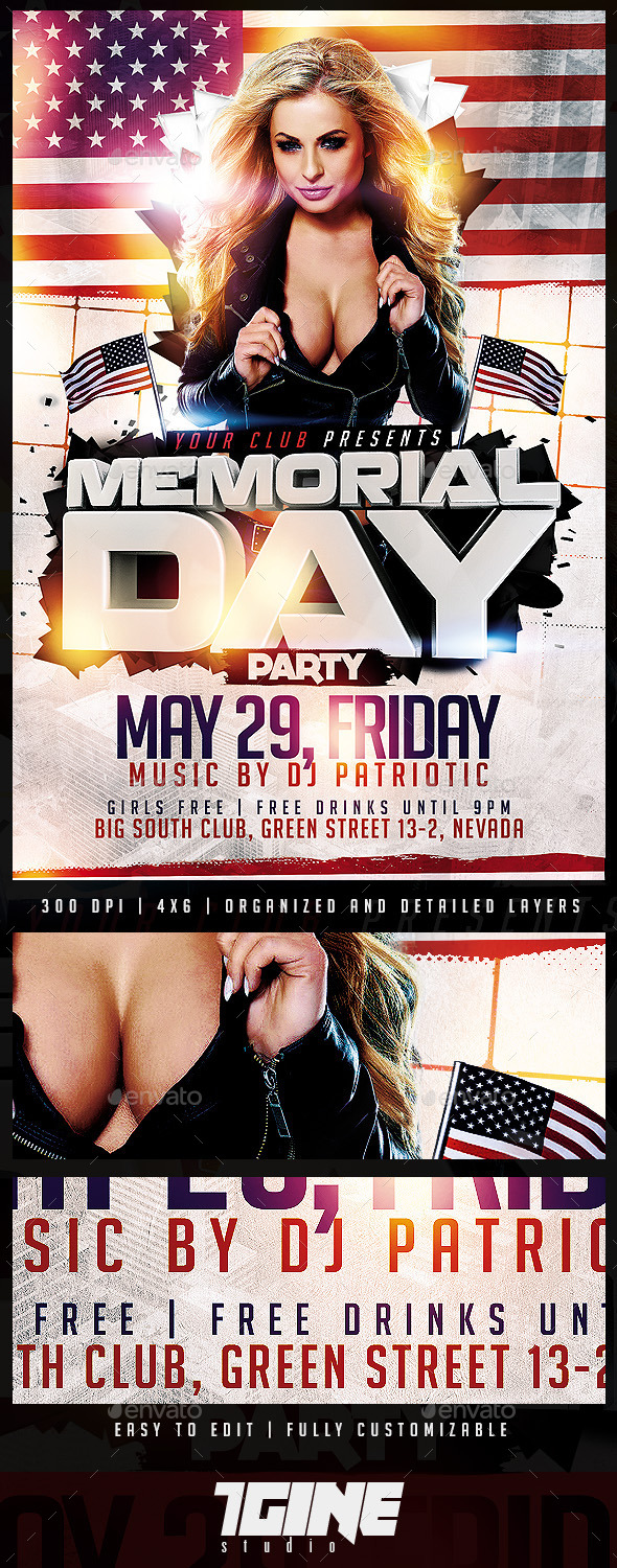 GraphicRiver Memorial Day Flyer Template 11341195
