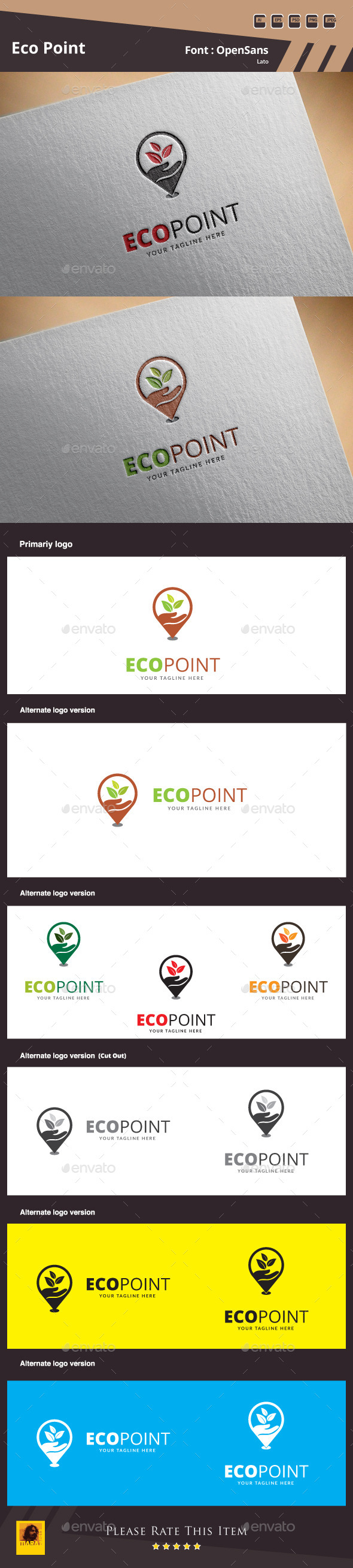 GraphicRiver Eco Point Logo Template 11427313