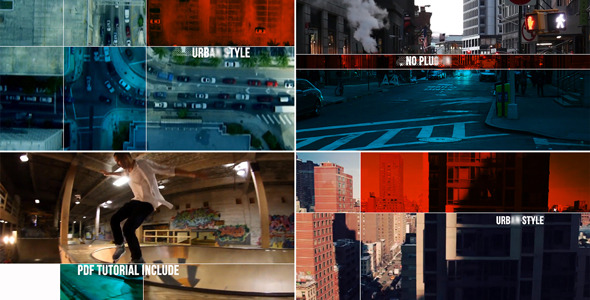 AE模板:动感创意分屏画面 城市地标介绍 风土人情 电视栏目包装模板