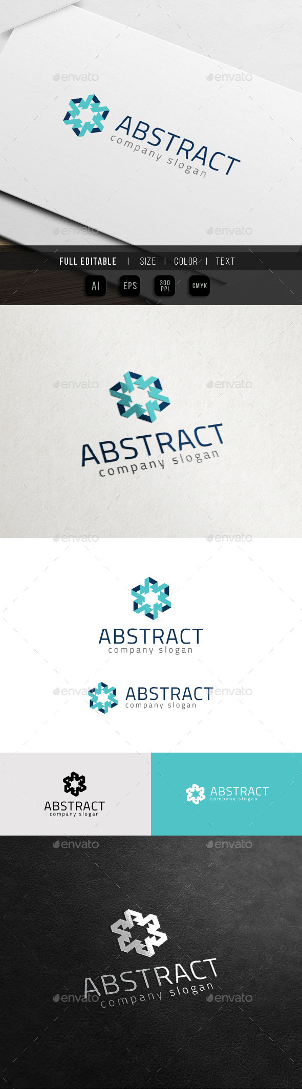 GraphicRiver Crystal Frozen Art Abstract Logo 11427499