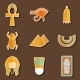 Set Of Stickers On Ancient Egypt Theme - GraphicRiver Item for Sale
