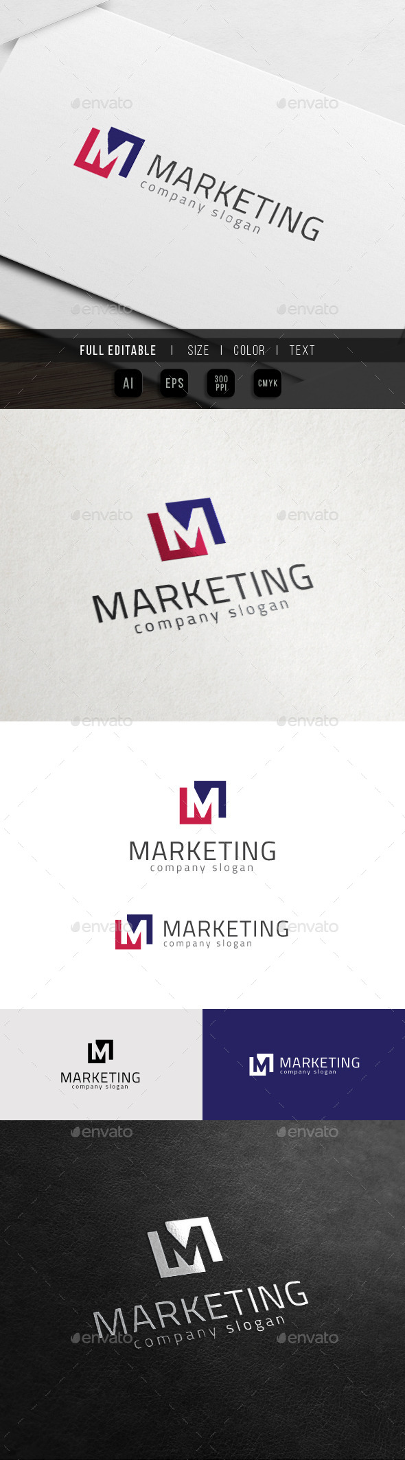 GraphicRiver Marketing Media Master Group M Logo 11427511