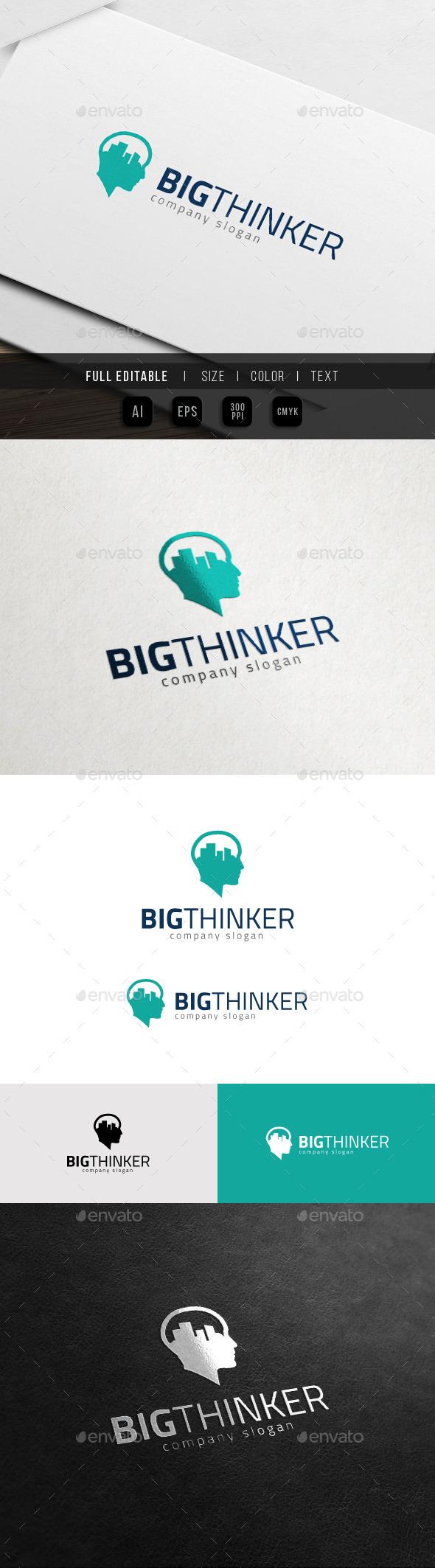 GraphicRiver Big City Idea Vision Thinker Logo 11427542