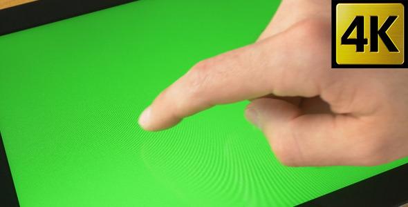 Green Screen Tablet Gestures