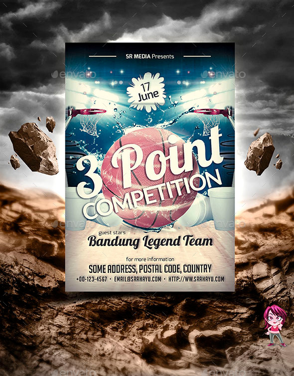 GraphicRiver 3 Point Competition Flyer Template 11362759