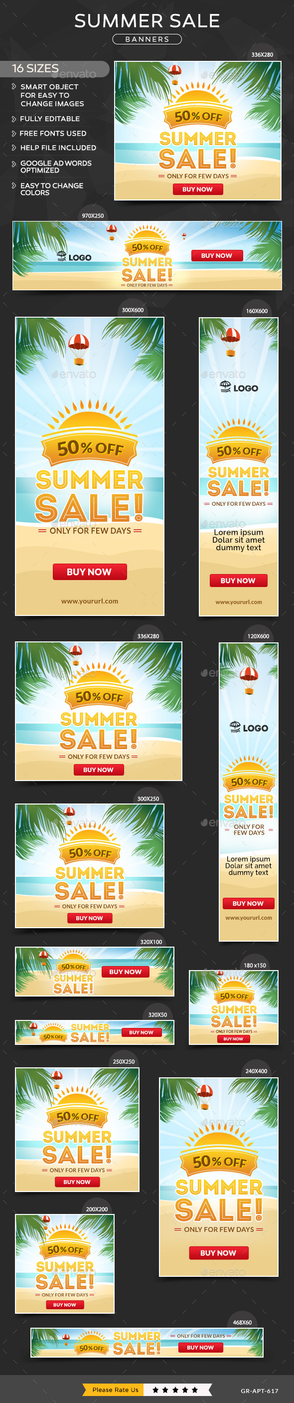 GraphicRiver Summer Sale Banners 11427663
