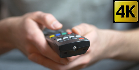VideoHive Remote TV Device Pressing Buttons 11427697