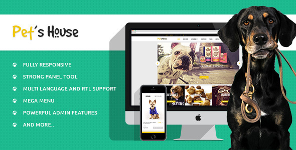 Download Leo Pet's House Prestashop Theme nulled download