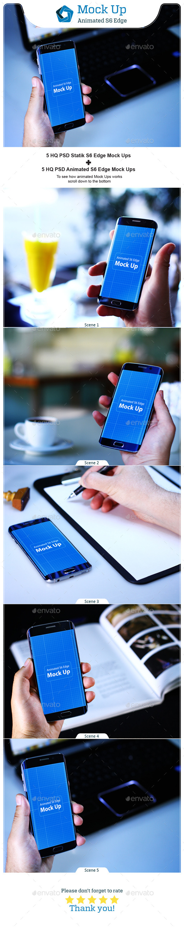 GraphicRiver Animated S6 Edge MockUp V.1 11410735