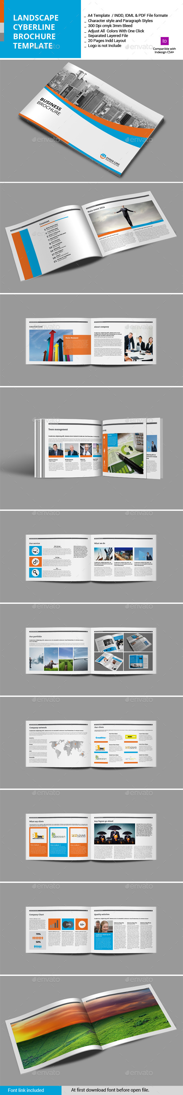 GraphicRiver Landscape Syberline Brochure Template 11427861