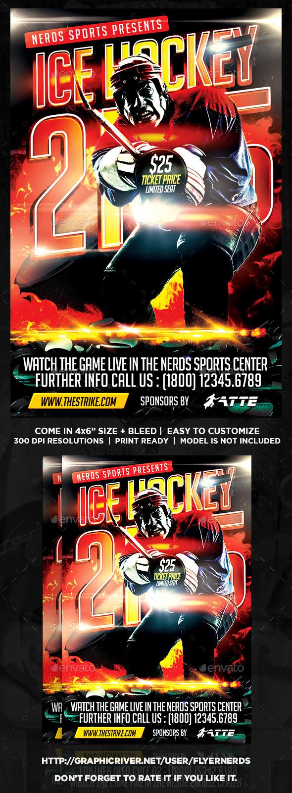GraphicRiver Ice Hockey 2K15 Championships Flyer 11428009