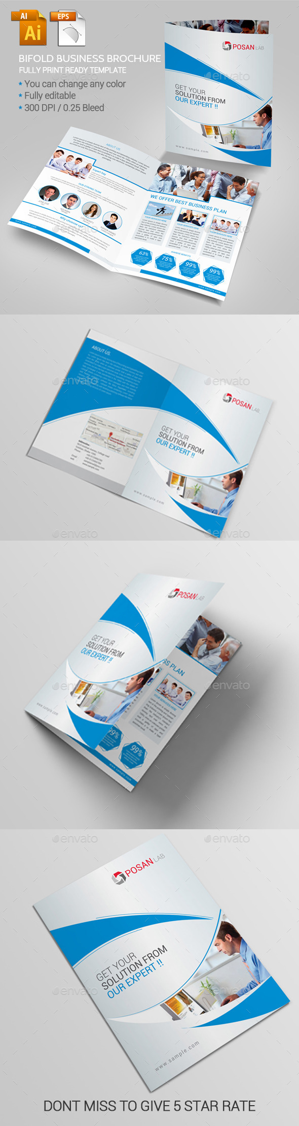 GraphicRiver Bifold Business Brochure 11362689