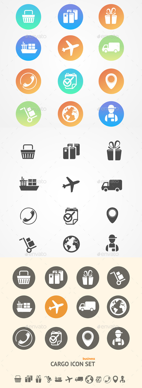 GraphicRiver Vector Shipping Logistics and Cargo Icon Set 11428178
