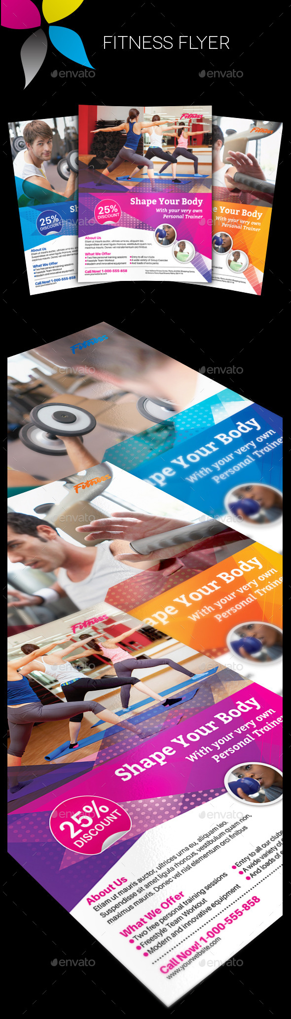 GraphicRiver Fitness Flyer 11428510