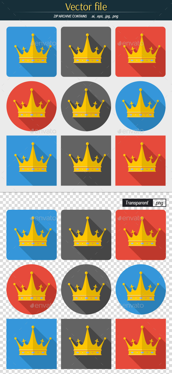 GraphicRiver Crown Icons Set 11428551
