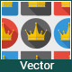 Crown Icons Set - GraphicRiver Item for Sale