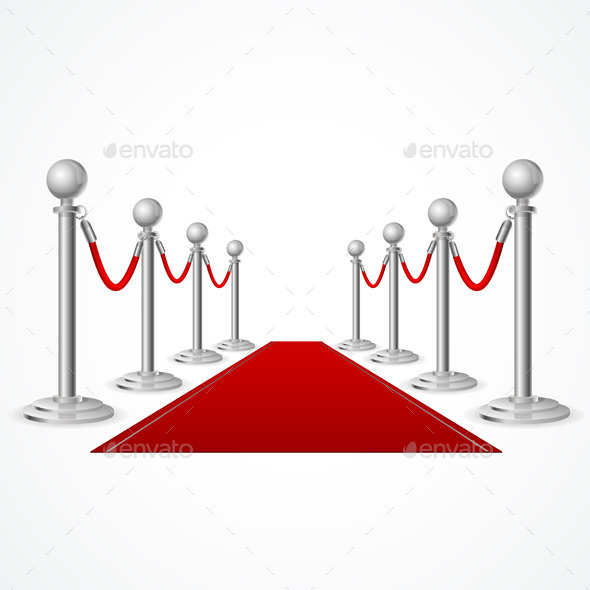 GraphicRiver Vector Red Event Carpet 11428557