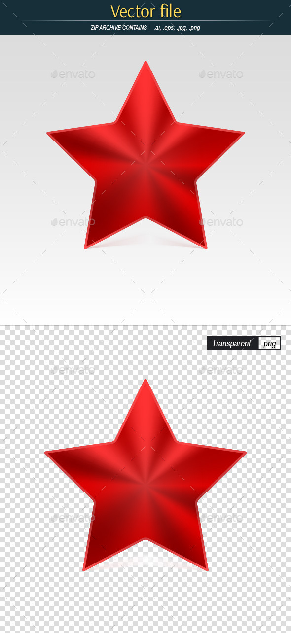 GraphicRiver Red Star Icon 11428589