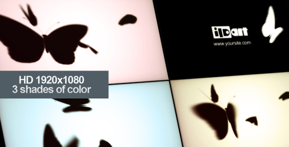 After Effects Project - VideoHive Moths open logo 140959