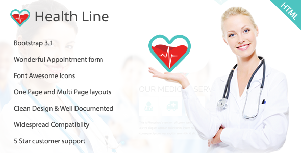 ThemeForest Health Line Medic HTML Template 11148052