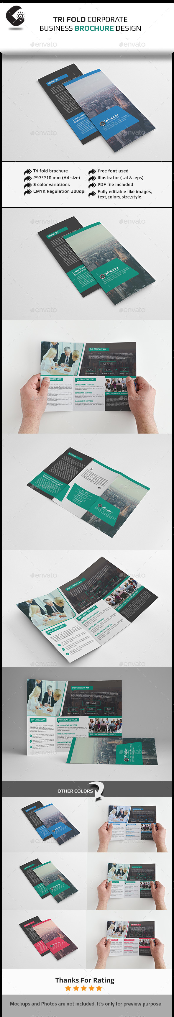 GraphicRiver Tri-Fold Corporate Brochure-Multipurpose 11429071