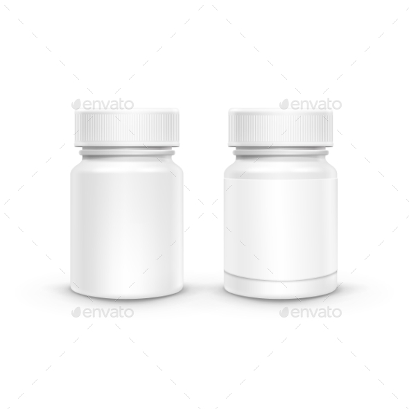 GraphicRiver Vector Plastic Packaging Bottle With Cap For Pills 11429842