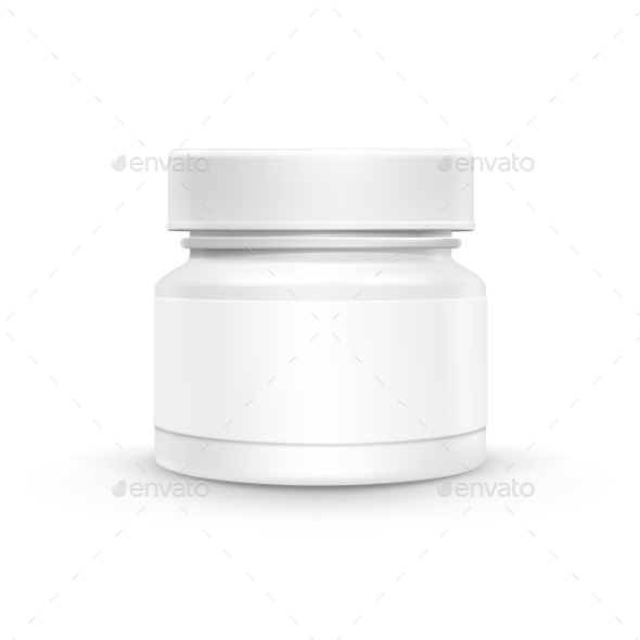 GraphicRiver Vector Plastic Packaging Bottle With Cap For Pills 11429948