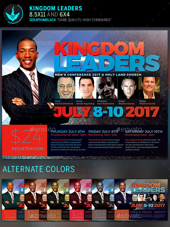 GraphicRiver Kingdom Leaders Church Flyer Template 11430007
