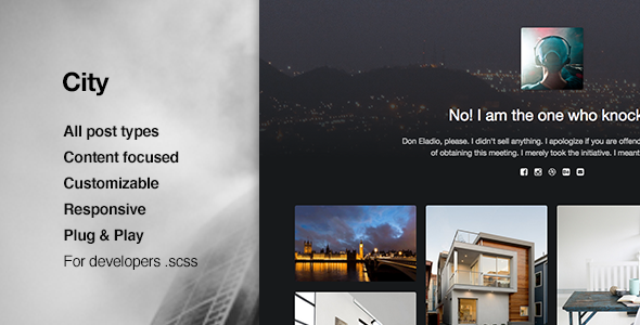 ThemeForest City Responsive Portfolio Tumblr Theme 11400608