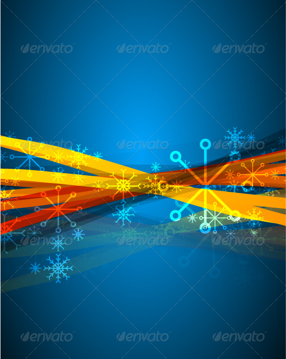 GraphicRiver Blue vertical Christmas background 140981