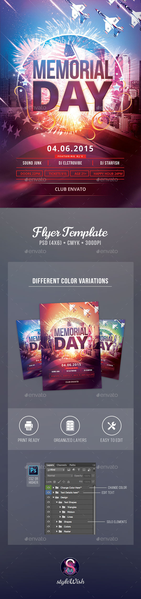 GraphicRiver Memorial Day Flyer 11430442