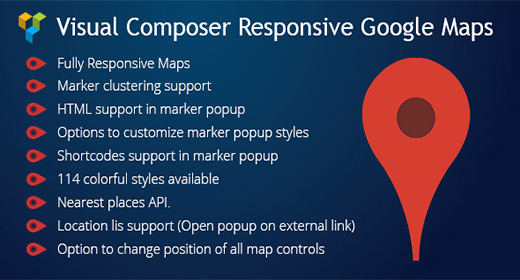 Visual Composer Responsive Google Maps