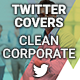 Twitter Profile Covers - Clean Corporate - GraphicRiver Item for Sale