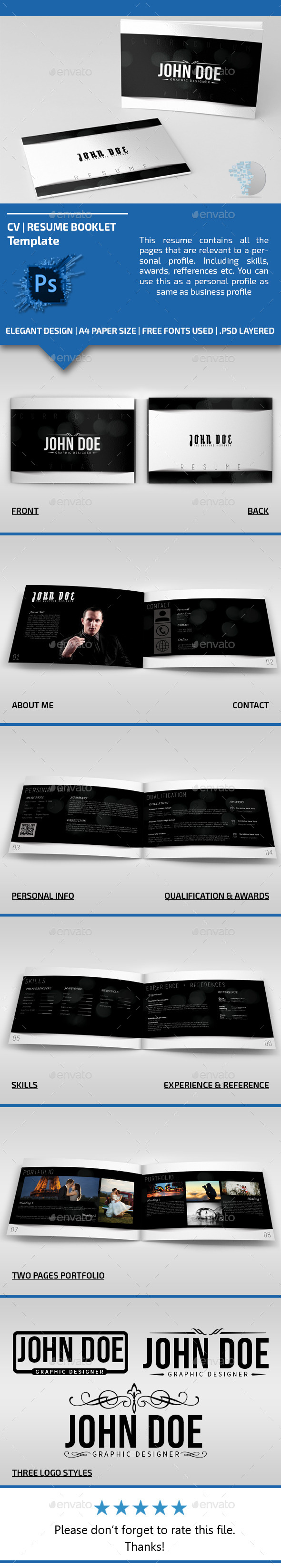 GraphicRiver Booklet Resume Temp 11431356